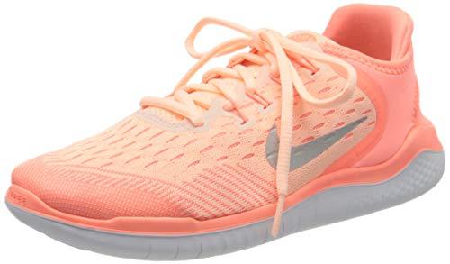 Nike Unisex-Kinder Free RN 2018 Laufschuhe, Rot (korall/weiß korall/weiß), 38 EU