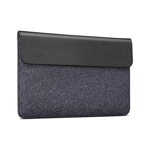 Lenovo Yoga Sleeve for 14 Inch Notebooks and Detachable Laptops – Leather and Wool Felt, Black