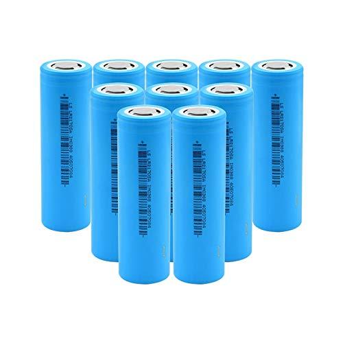 RitzyRose Batería de iones de litio de 3,7 V, 5200 mAh, 21700 35 A, baterías recargables para linterna 10 unidades