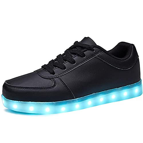 SANYES USB Charging Light Up Shoes Sports LED Shoes Dancing Sneakers SYDB551-Black-45