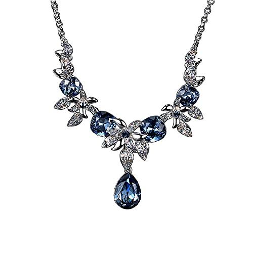 DUTUI Collar De Mujer Cadena Corta De Clavícula De Diamantes Moda Cien Joyas A Juego Fiesta Banquete Accesorios De Joyería Colgante Tridimensional