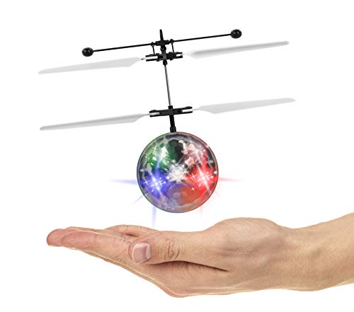 Flying Ball Toys, RC Hover Toy for Kids Boys Girls Gifts Rechargeable Light Up Ball Drone Infrared Induction Helicopter for Indoor and Outdoor Games