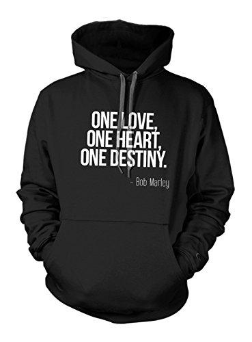 One Love One Heart One Destiny Bob Marley Zitat Hoodie Sweatshirt Schwarz X-Large