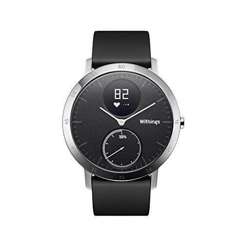 Withings Steel HR Reloj de Seguimiento de la Actividad con monitorización, Unisex Adulto, Negro, 40 mm