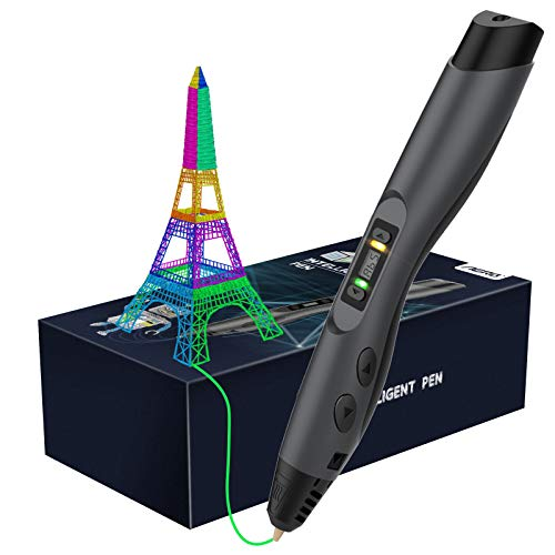 Aerb Intelligent 3D Pen with LED Display,3D Printing Pen with USB Charging, 8 Speed Printing&Temperature Control, Interesting Gifts for All Age(New Gift Package)