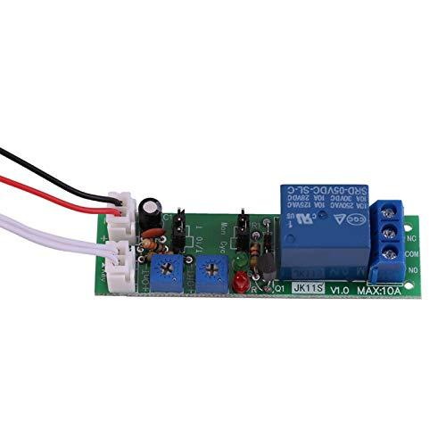 MóDulo de Temporizador, Relé de Retardo De Temporizador Dc 5V 12V 24V Placa de Controlador MóDulo de Interruptor de Temporizador de Ciclo De Retardo Apagado Ajustable(DC 5V 0-30 minutos ajustable)