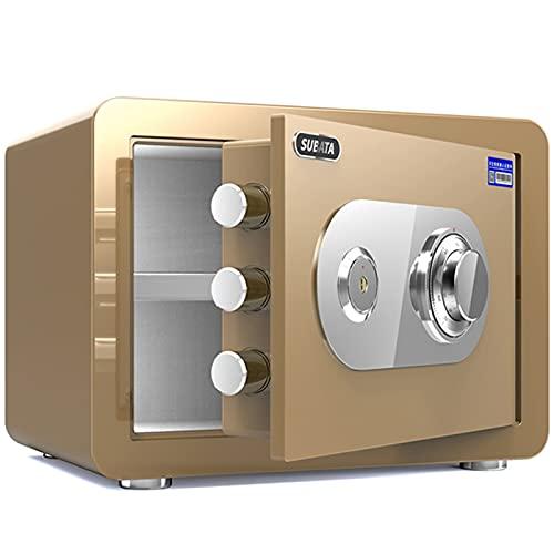 Tresore Goldenes Heimsaal, Bürosicherheitsschrank, Mechanisches Personal-Kennwort Für Stahl, 25 cm / 30cm (Size : Height 25cm)
