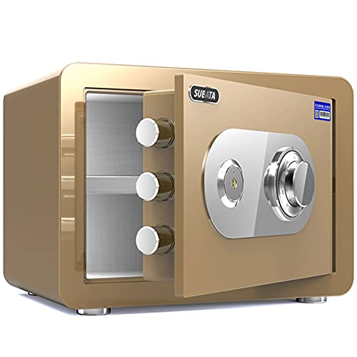 Cajas fuertes Golden Home Caja, Gabinete De Seguridad De Oficina, Caja De Almacenamiento De Seguridad De Contraseña Mecánica De Acero, 25 Cm / 30 Cm (Size : Height 25cm)