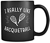 N\A Me Gusta Mucho la Taza de Racquetball Regalo de Racquetball Taza de Squash Regalo de Squash Regalo de Jugador de Squash Entrenador de Squash Regalo de Raqueta Taza de Raqueta a958 Taza mugreeva