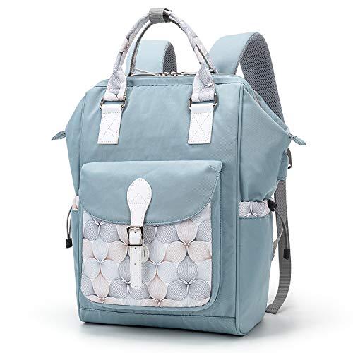 WindTook Rucksack Damen Laptop Rucksack Schulrucksack Daypack mit USB Anschluss für 15,6 Zoll Laptop , Uni Büro Freizeit Arbeit Schule, 28x19x39cm, Blau