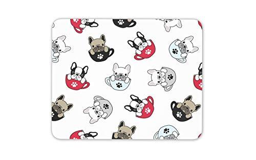 French Bulldog Pattern Mouse Mat Pad - Dog Puppy Cute Fun Computer Gift #16534