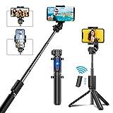 Cocoda Palo Selfie Tripode, Tripode para Movil Extensible Bluetooth con Control Remoto Inalámbrico Ajustable de 360° Compatible con iPhone SE/11 Pro MAX/XS MAX/X/8, Galaxy S20/S10/S9/Note y Más