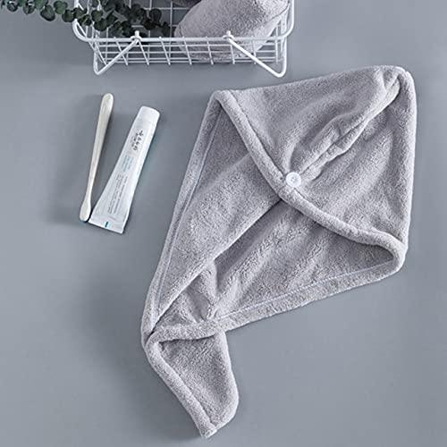 IAMZHL Toallas de Mujer Toalla de Microfibra de baño Toalla de Pelo de Secado rápido Toallas de baño para Adultos Toallas Microfibra toalha de banho-Gray-25x65cm