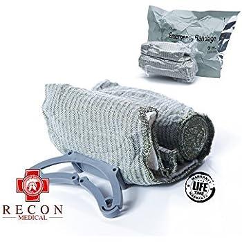 Trauma Bandage by RECON MEDICAL- Trauma Dressing, Israeli, First Aid, Medical Compression Bandage, Emergency Trauma Bandage, 4 Inches…