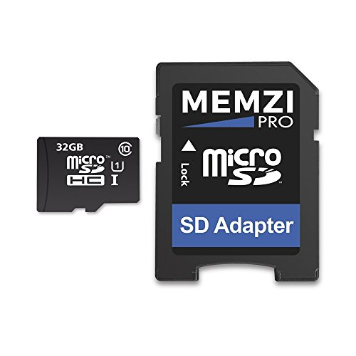 MEMZI PRO 32GB Class 10 90MB/s Micro SDHC Memory Card with SD Adapter for ZTE Cell Phones