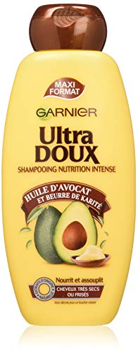 Garnier Ultra Doux À lHuile dAvocat et Beurre de Karité - Shampooing 400ML Cheveux Très Secs ou Frisés