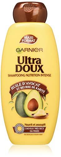professionnel comparateur Garnier Ultra Doux à l'Huile d'Avocat et au Beurre de Karité – 400 ml de shampoing pour cheveux très secs ou… choix