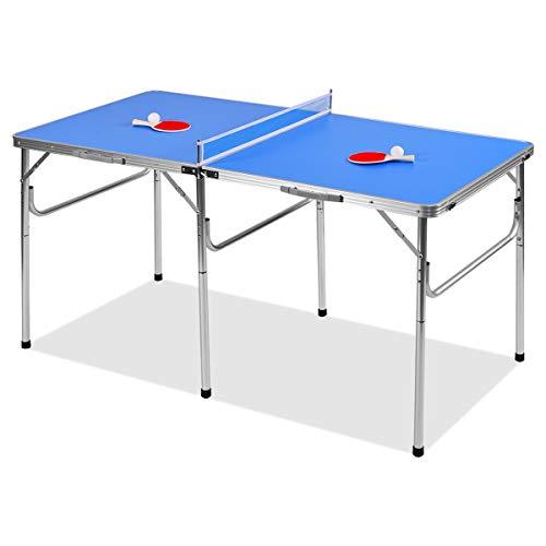 DREAMADE Tavolo da Ping Pong Pieghevole e Portatile Tavolo Ping Pong Outdoor...