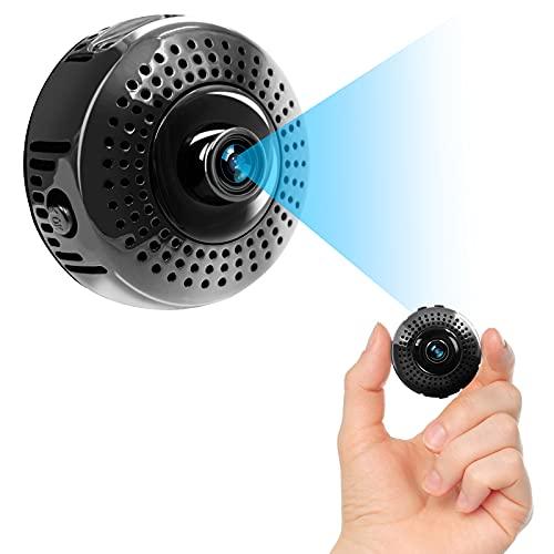 TANGMI Mini WLAN Kamera HD 1080P WiFi Kamera Tragbare Kamera 140 ° Drahtlose Heimsicherheits Unterstützt Nachtsicht und Bewegungserkennung