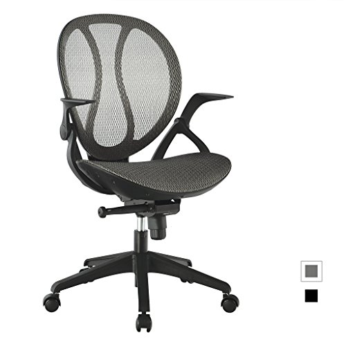 LANGRIA Mid-Back Mesh Adjustable Swivel Chair Executive Office...