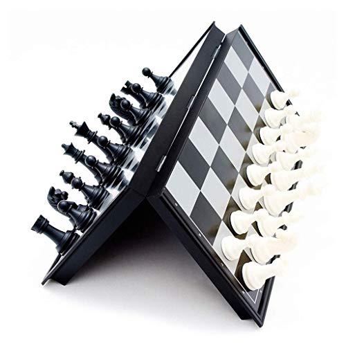 Juego de ajedrez, Tablero de ajedrez de plástico portátil, Tablero Plegable, Juego de ajedrez, Juego de ajedrez Internacional, Juguetes para el ajedrez de Acción de Gracias