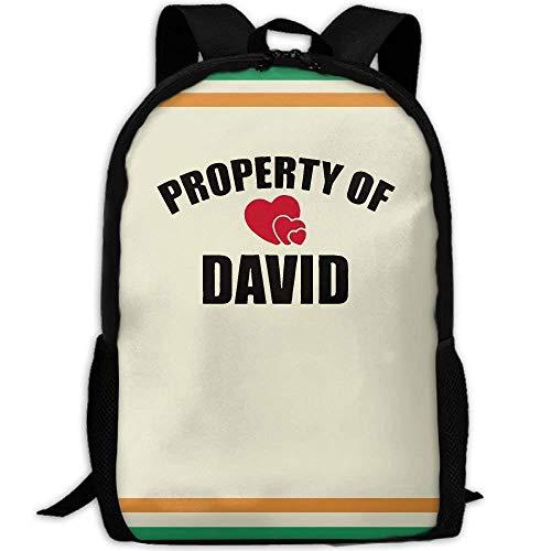 TTmom Schulrucksack,Schüler Bag,Rucksack Damen Herren Backpack Adult Property of David Unique Shoulders Bag Daypacks
