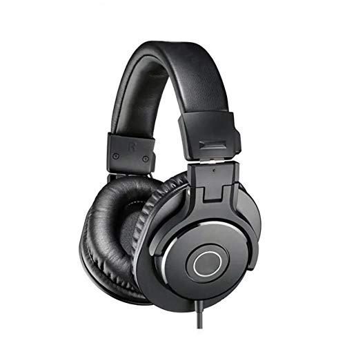 XHN Cuffie con eliminazione del Rumore per Giochi PS4, Cuffie Over-Ear con Suono Surround con Microfono con cancellazione del Rumore, Controllo del Volume per Giochi per PC Mac Ps4 per Laptop-Black