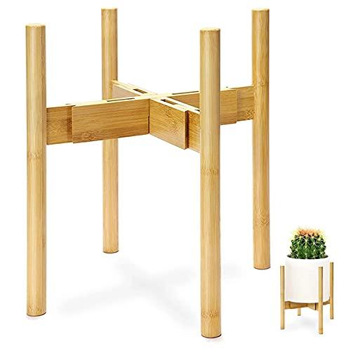 Soporte ajustable para plantas, soportes para flores de madera para plantas, soporte para macetas de...