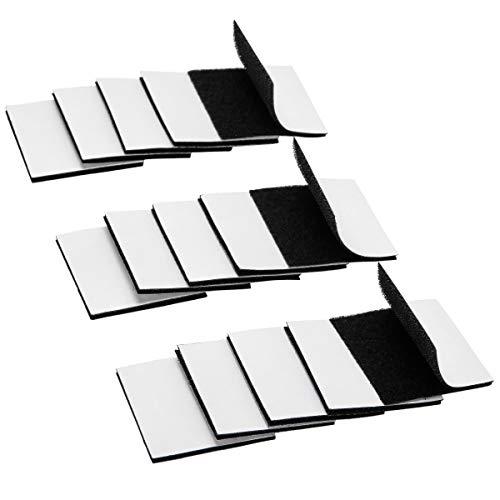 LAOYE 15 Pezzi Autoadesivo Strisce Adesive Nastro di Fissaggio Rimovibile Robusto Stiky Tapes