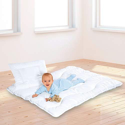 BABY-WALZ Ensemble literie enfant « SATINE » équipement de lit couverture, blanc