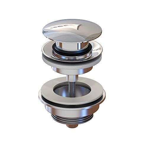 LEMONBATH Válvula click clack universal lavabo para baño, válvula pop up tapa redonda, desagüe para lavabos baño