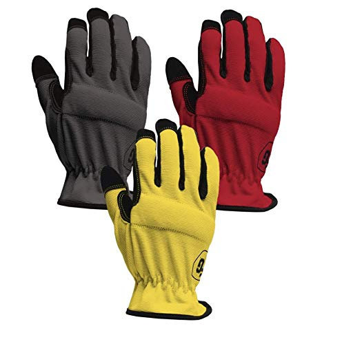 Firm Grip Utility Large Multi Color Synthetic Leather Glove (3-Pair)