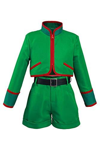 Anime Kids Gon Freecss Cosplay Costumes Halloween Green Uniforms Full Set for Boys Girls (Medium, Kids)