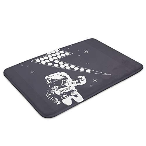 XHJQ88 4 Maten NASA SpaceMan Zeggen Hi Zachte Welkom Mat Floormat Zittende Mat Grote Outdoor Indoor Vuilnis Thuis Keuken gebruik - Bliksem voor Deur Versieren