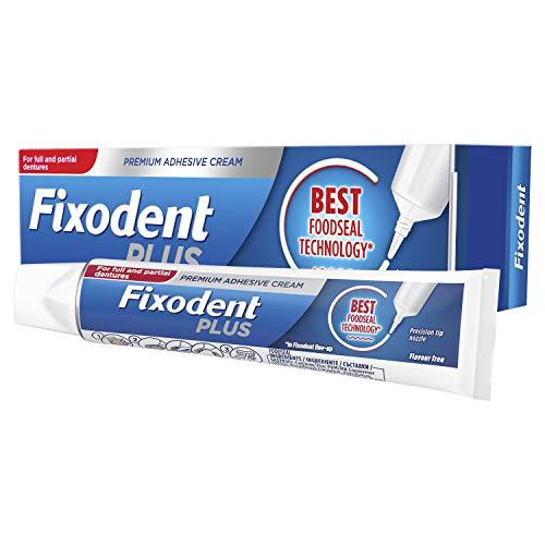 Fixodent Plus - Adhesivo para dentadura (40 g)