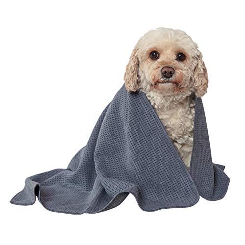 Glart - Absorbente y suave toalla de baño de microfibra para perros y mascotas de 80 x 55 cm