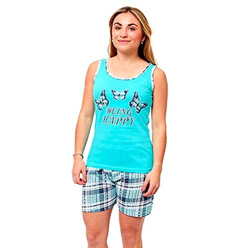 FLASHPIJAMAS Lahn Pijama Mujer Estampado Pijama Dos Piezas Pijama Camiseta Tirantes y...