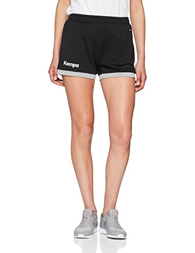 Kempa Damen Core 2.0 Shorts , Schwarz (Black/Dark Grey Melange) , S