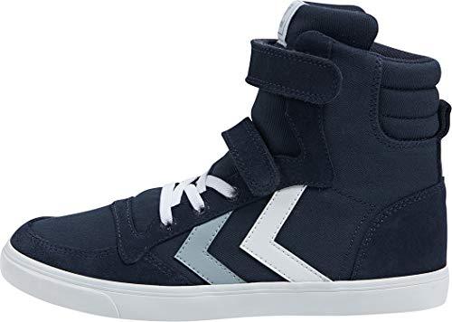 hummel Unisex Kinder Slimmer Stadil HIGH JR Hohe Sneaker, Black Iris, 30 EU