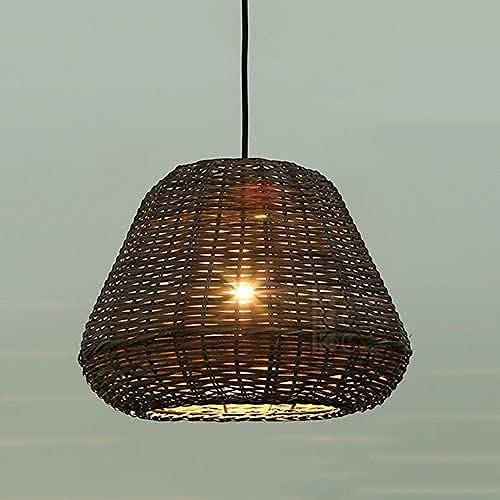CAIMEI Ceiling Spots Rattan Lantern Max 81% OFF Semi-Embed Pendant E27 Indefinitely Light