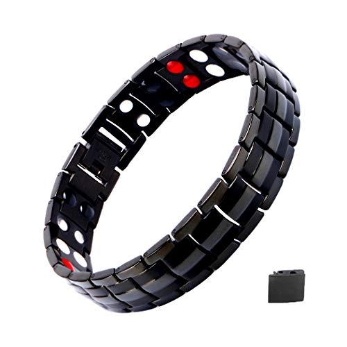 Magnetarmband Herren, Titan Therapie Armbänder für Männer Gesunde Sleek Cuff Armband für Erleichterung Schmerz mit Link Removal Tool