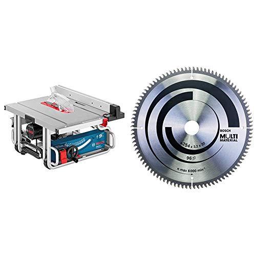 Bosch Professional 0601B30500 GTS 10 J Banco Sega + 2608640451 Lama Circolare Multi-Material, 254 x 30, 96D