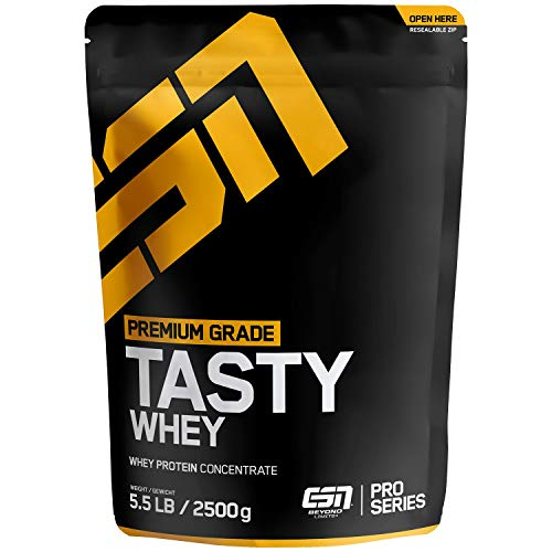 ESN Tasty Whey Protein – 2500g Big Pack – Chocolate (Classic) – Molkenproteinkonzentrat reich an EAAs und BCAAs – Instant – 83 Portionen – Made in Germany