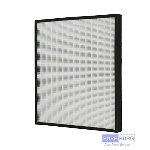 PUREBURG 1-Pack Replacement HEPA Air Filter for Hunter 30940 fits 30210 30214 30215 30216 30225 30244 30245 30260 30398 30400 30401 30402 30525 36260 36395 37225 Air Purifiers