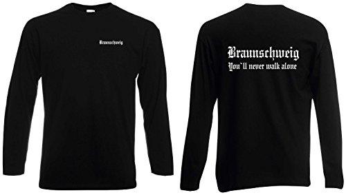 Braunschweig Herren Longsleeve Fan Ultras Schwarz XXL