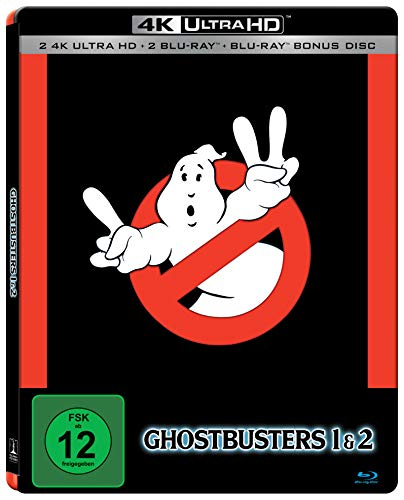 Ghostbusters & Ghostbusters 2 5 Disc Set SteelBook Edition [2 x UHD, 3 x Blu-ray]