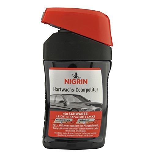 NIGRIN 72944 Hartwachs-Colorpolitur Schwarz 300 ml
