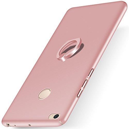 """XMT Xiaomi Mi MAX 2 6.44"""" Funda,PC Hard Gel Funda con Ring Stand Protective Case Cover para Xiaomi Mi MAX 2 Smartphone (Rosa Claro)"""