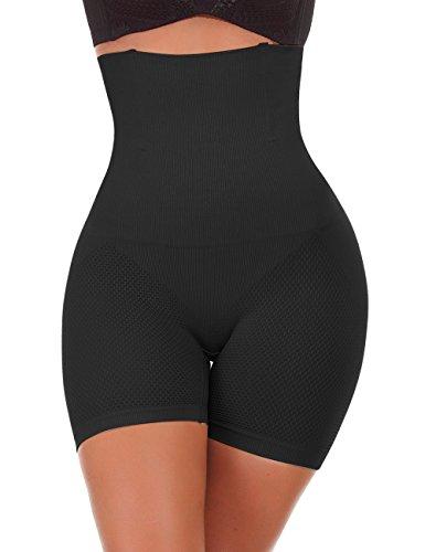 NINGMI Femme Panties Culotte Taille Haute Gainante Minceur Ventre Plat Efficace sous-vêtements, Noir, S