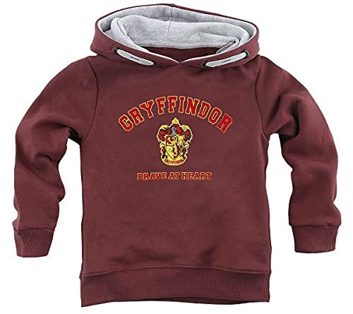 Harry Potter Gryffindor - Brave at Heart Unisex Kapuzenpullover Bordeaux 164